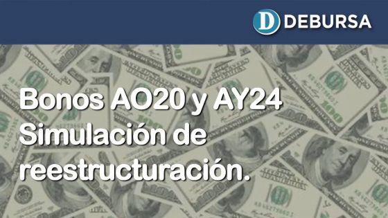 Analisis de reestructuración de bonos argentinos en dólares de corto y mediano plazo (AO20 y AY24)