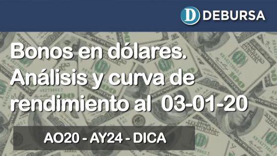 Bonos argentinos emitidos en dólares. Análisis al 3 de enero 2020