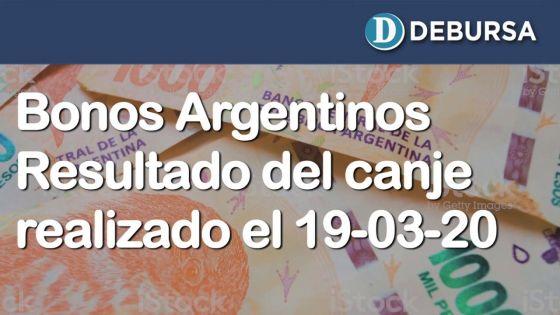 Análisis de la licitacion de bonos realizada el 19 de marzo 2020