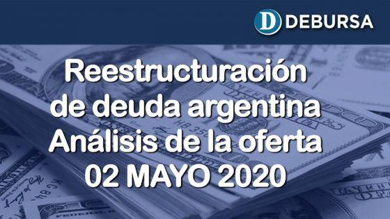 Análisis de la propuesta de canje de deuda argentina en dólares. (2 de Mayo 2020)